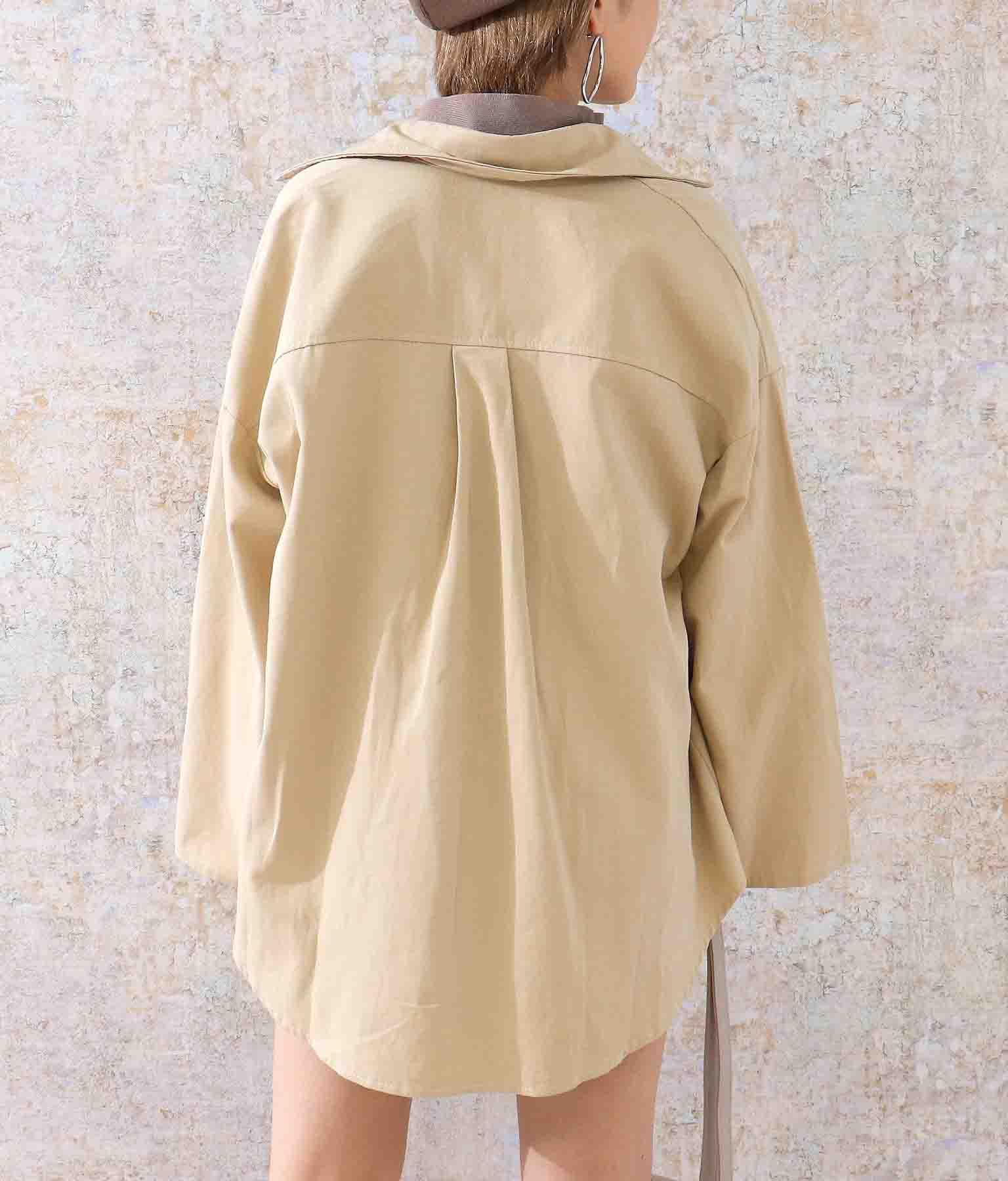 ビッグシャツセットアップ(トップス/シャツ・ブラウス・ショートパンツ)   ANAP