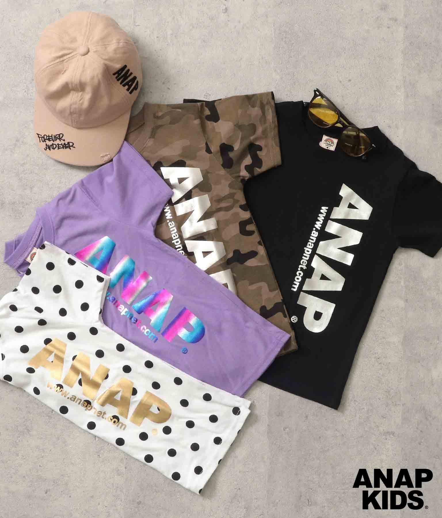 箔プリントアドレスロゴTシャツ | ANAP KIDS