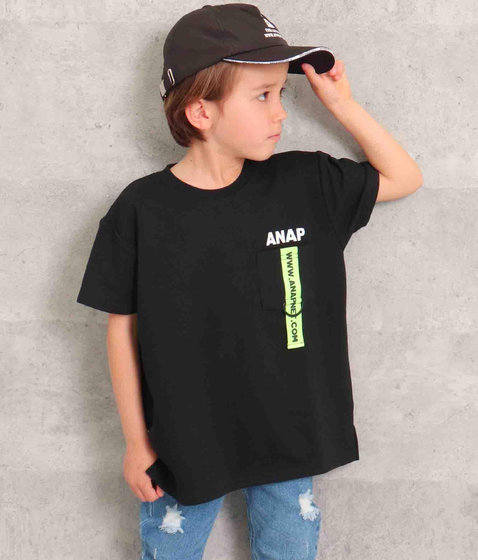 ミニ裏毛テープ付きトップス(トップス/Tシャツ)   ANAP KIDS