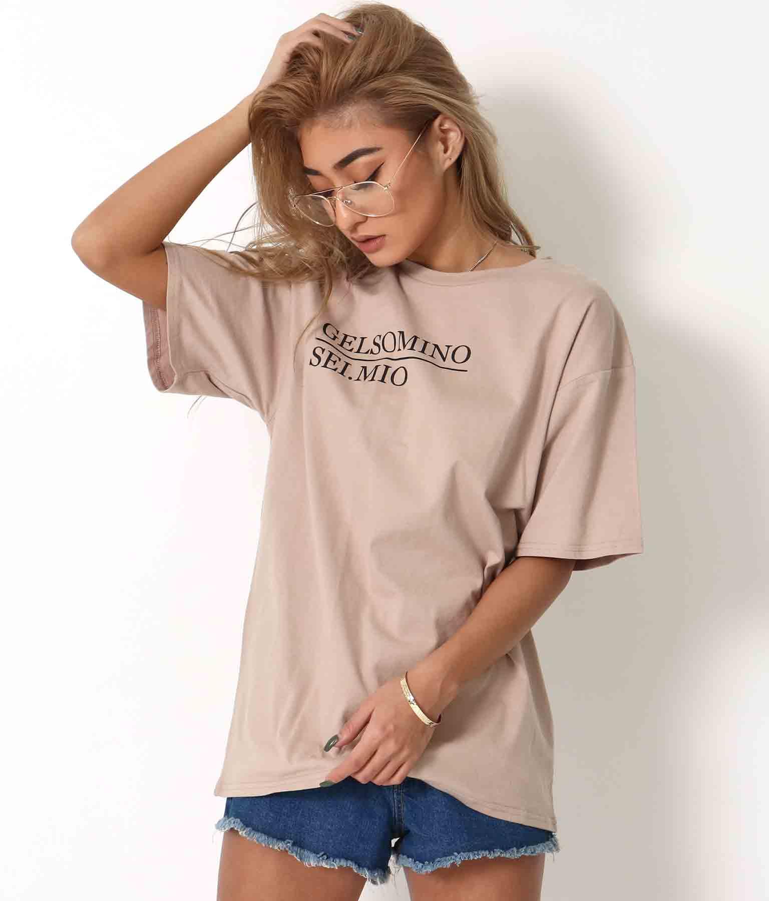 メッセージプリントビッグTシャツ