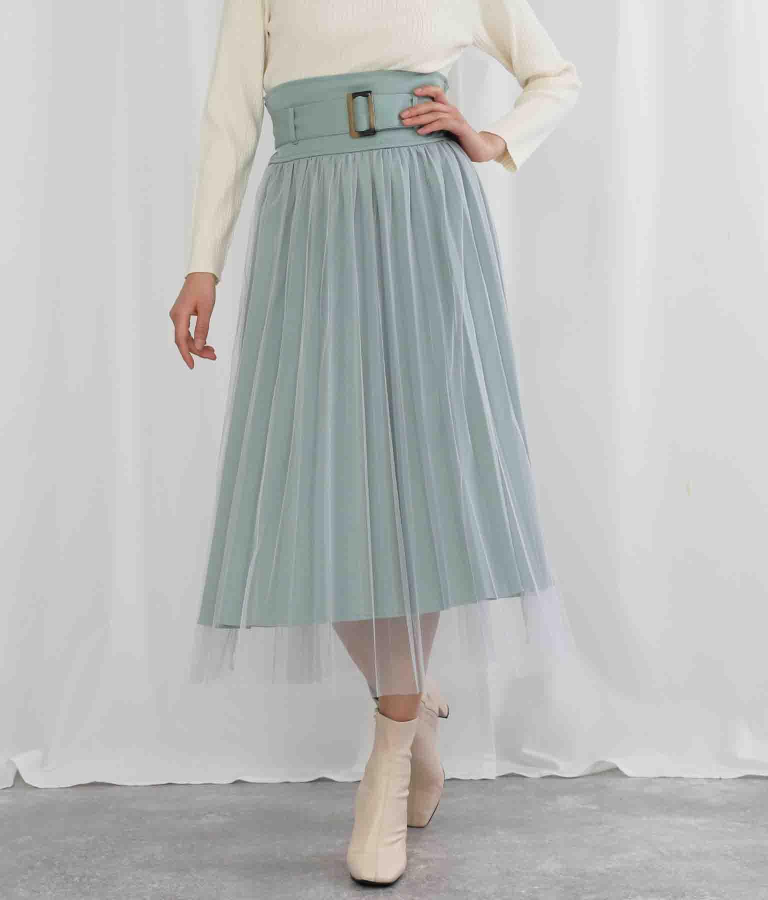 チュールカバードプリーツスカート(ボトムス・パンツ /スカート) | Settimissimo