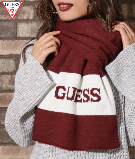 GUESS Knit scarf border