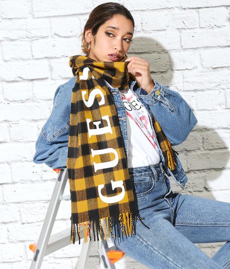 GUESS Knit Scarf Check(ファッション雑貨/マフラー・ストール ・スヌード・スカーフ )   GUESS