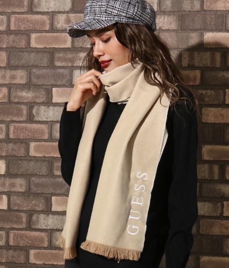 GUESS Knit Scarf Herringbone(ファッション雑貨/マフラー・ストール ・スヌード・スカーフ ) | GUESS