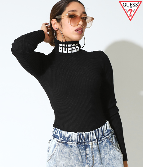GUESS LS LOGO HOLLY TURTLENECK