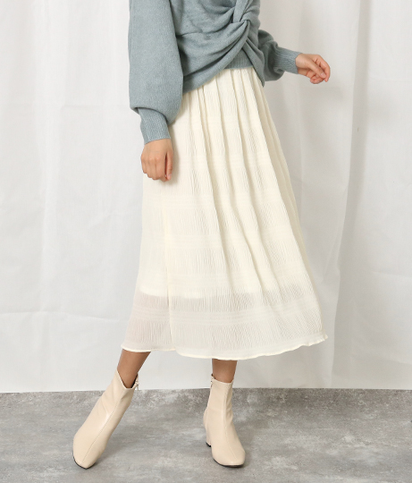 マジョリカプリーツロングスカート