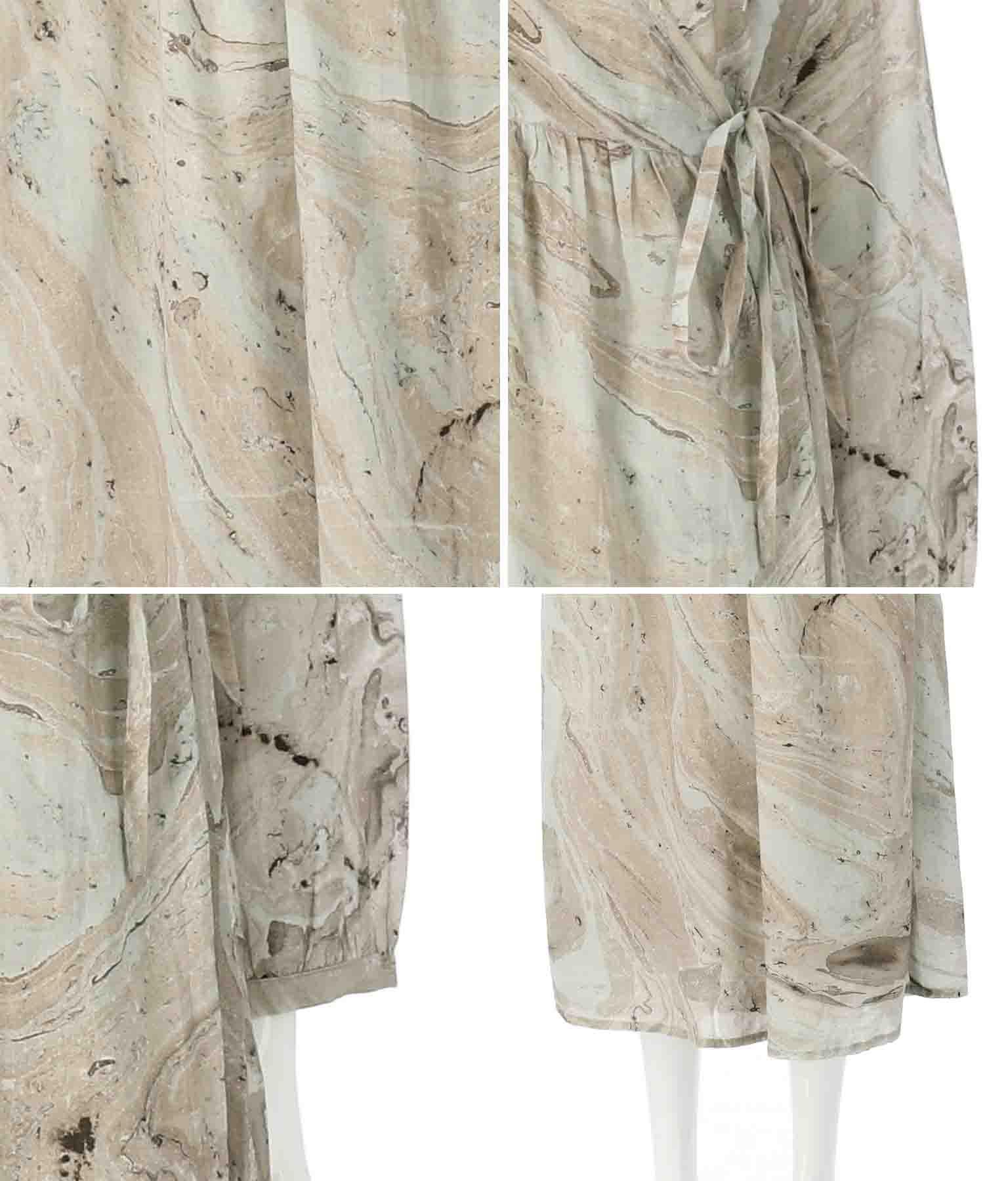 カシュクールワンピース(ワンピース・ドレス/ロングワンピ) | Alluge