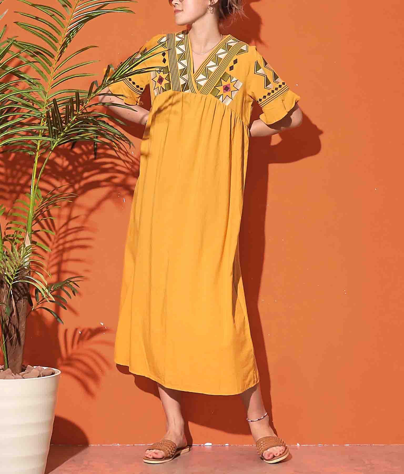オルテガ刺繍ロングワンピース(ワンピース・ドレス/ロングワンピ) | anap mimpi