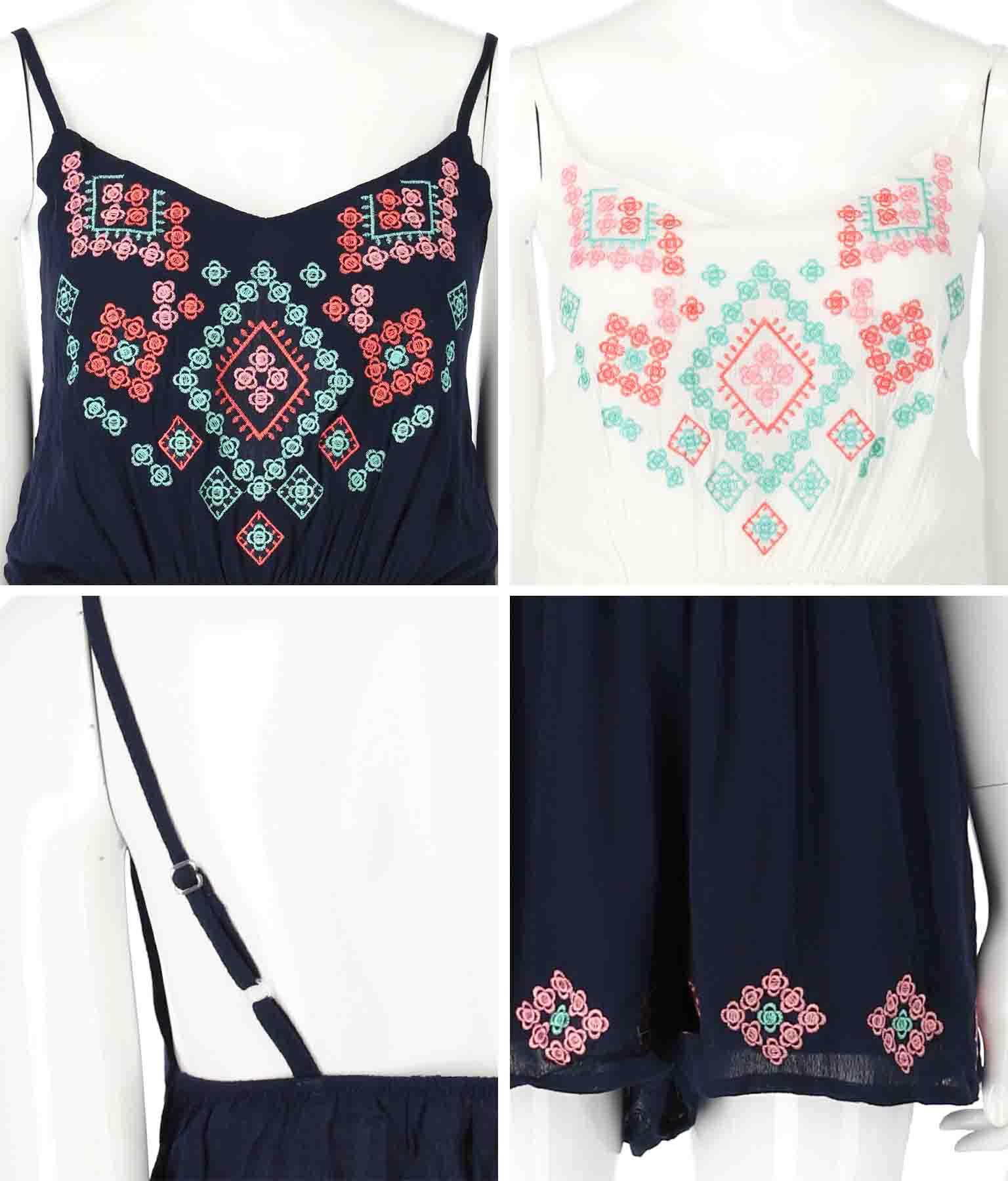 刺繍ロンパース(ワンピース・ドレス/サロペット/オールインワン) | anap mimpi