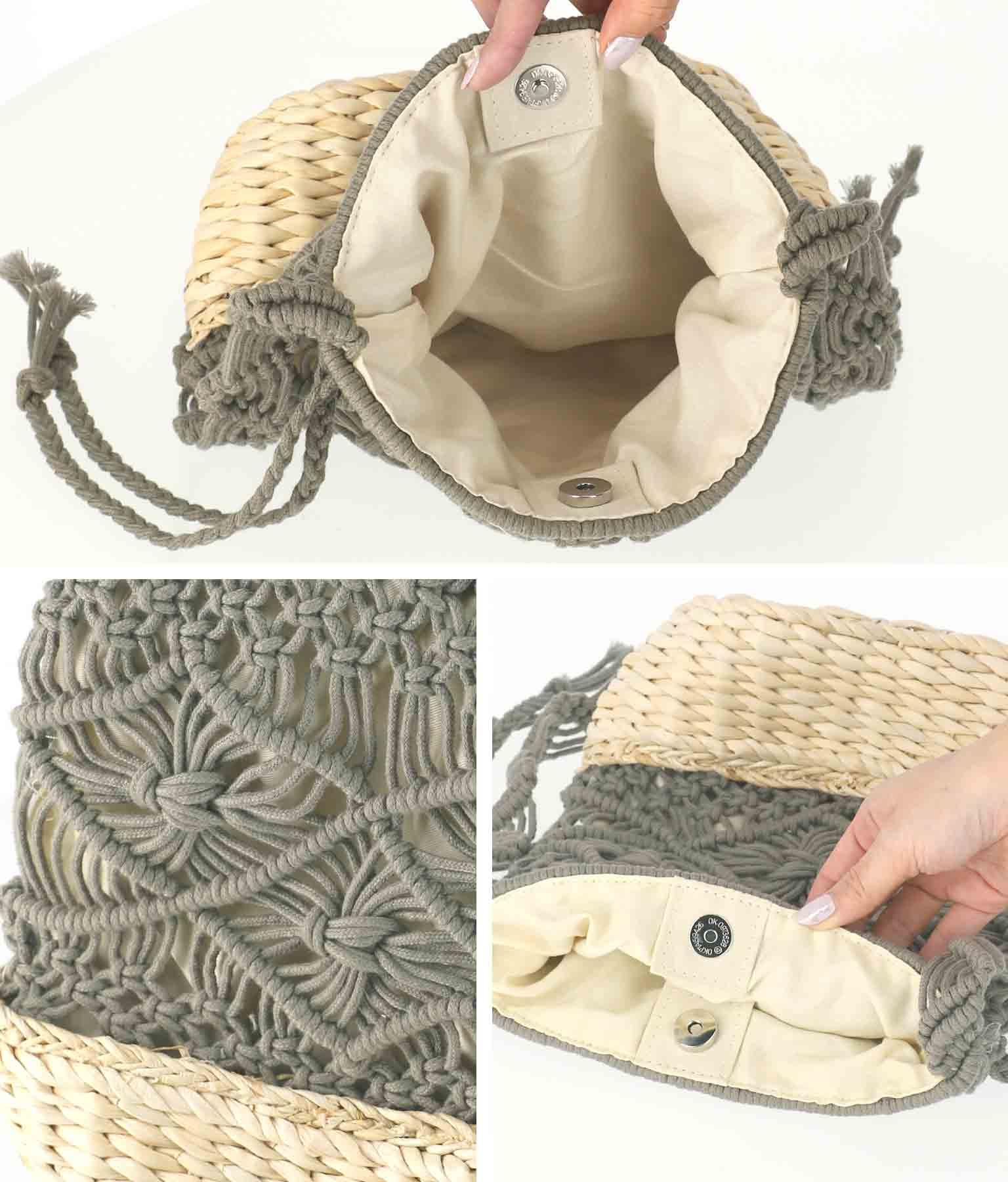 マクラメ×ラフィアショルダーバッグ(バッグ・鞄・小物/ショルダーバッグ) | CHILLE