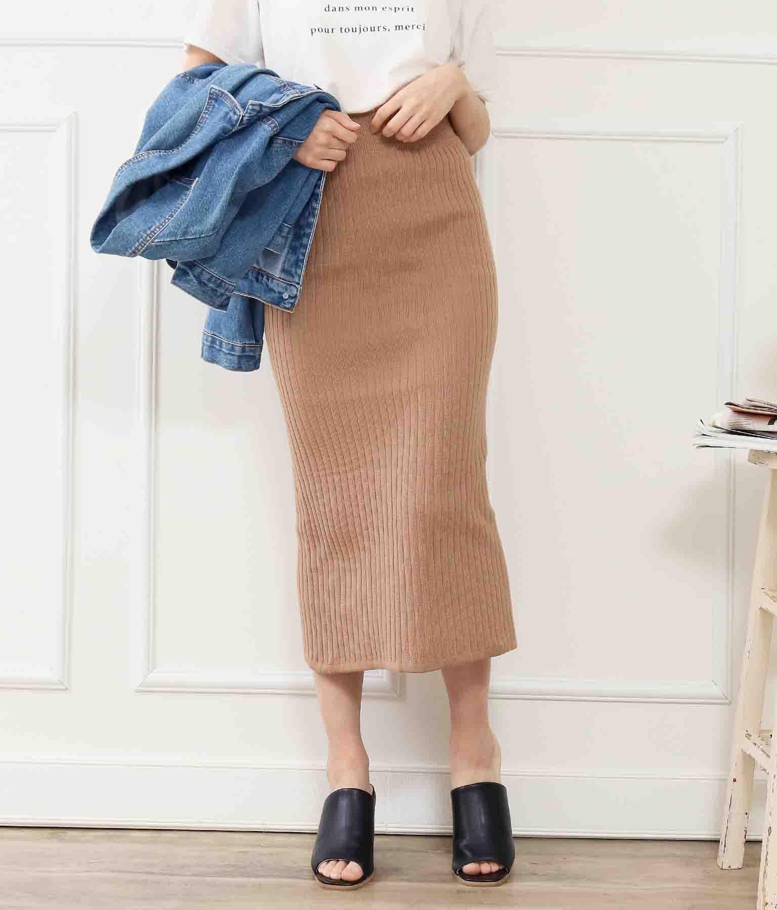 サマーリブニットスカート