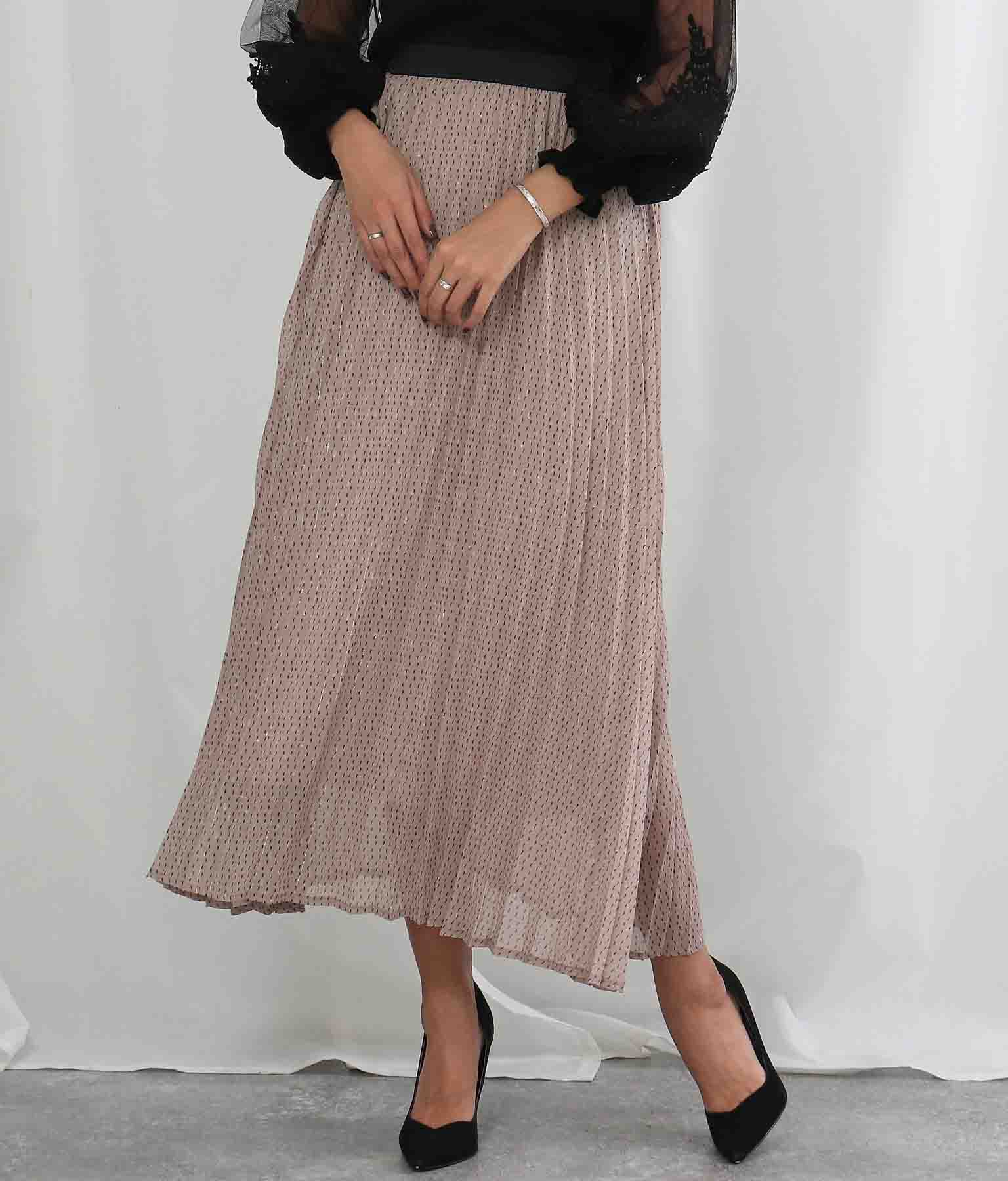 ラメ入ジオメトッリックプリントスカート(ボトムス・パンツ /スカート) | Alluge