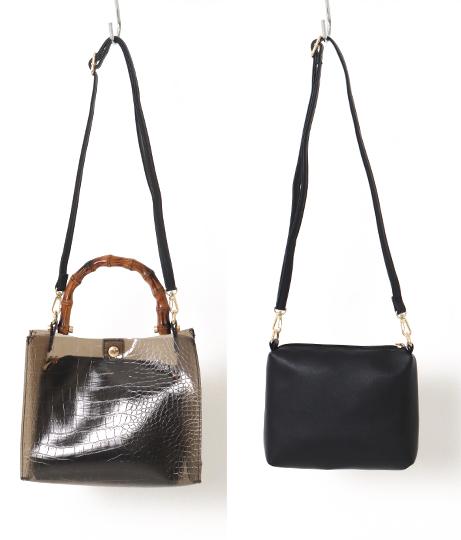 バンブークリア2wayショルダートートバッグ(バッグ・鞄・小物/クリアバッグ・ハンドバッグ・ショルダーバッグ・トートバッグ) | Factor=