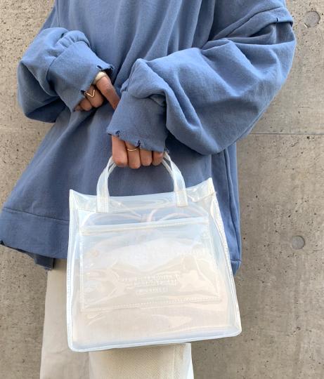 エンボスビニール2wayトートバッグ(バッグ・鞄・小物/クリアバッグ・ショルダーバッグ・トートバッグ) | Factor=