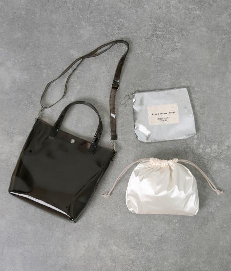 3セットクリアショルダーバッグ(バッグ・鞄・小物/クリアバッグ・ショルダーバッグ・トートバッグ) | Factor=