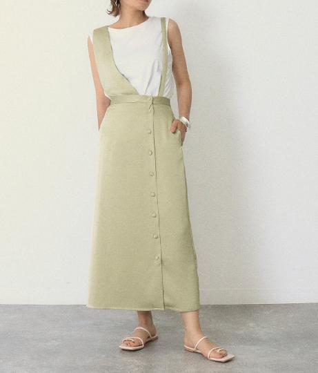サテンワンショルダー2wayスカート(ボトムス・パンツ /スカート)   AULI