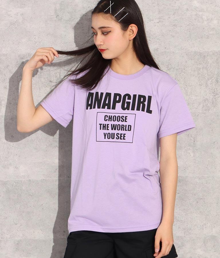 ロゴボックスTシャツ(トップス/Tシャツ) | ANAP GiRL