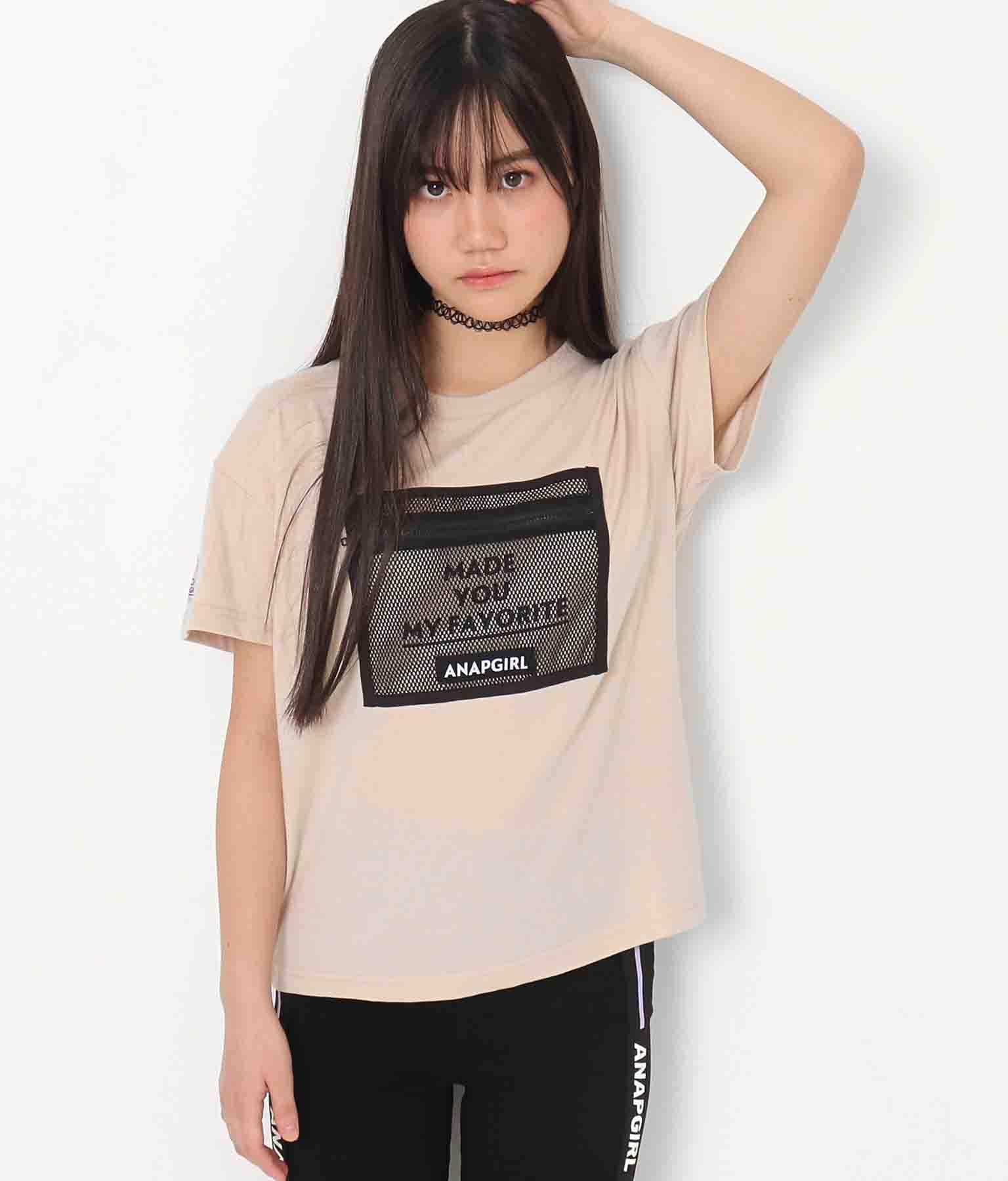 メッシュポケット付Tシャツ(トップス/Tシャツ) | ANAP GiRL