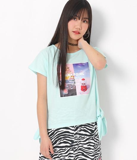フォトプリントサイド結びTシャツ(トップス/Tシャツ) | ANAP GiRL