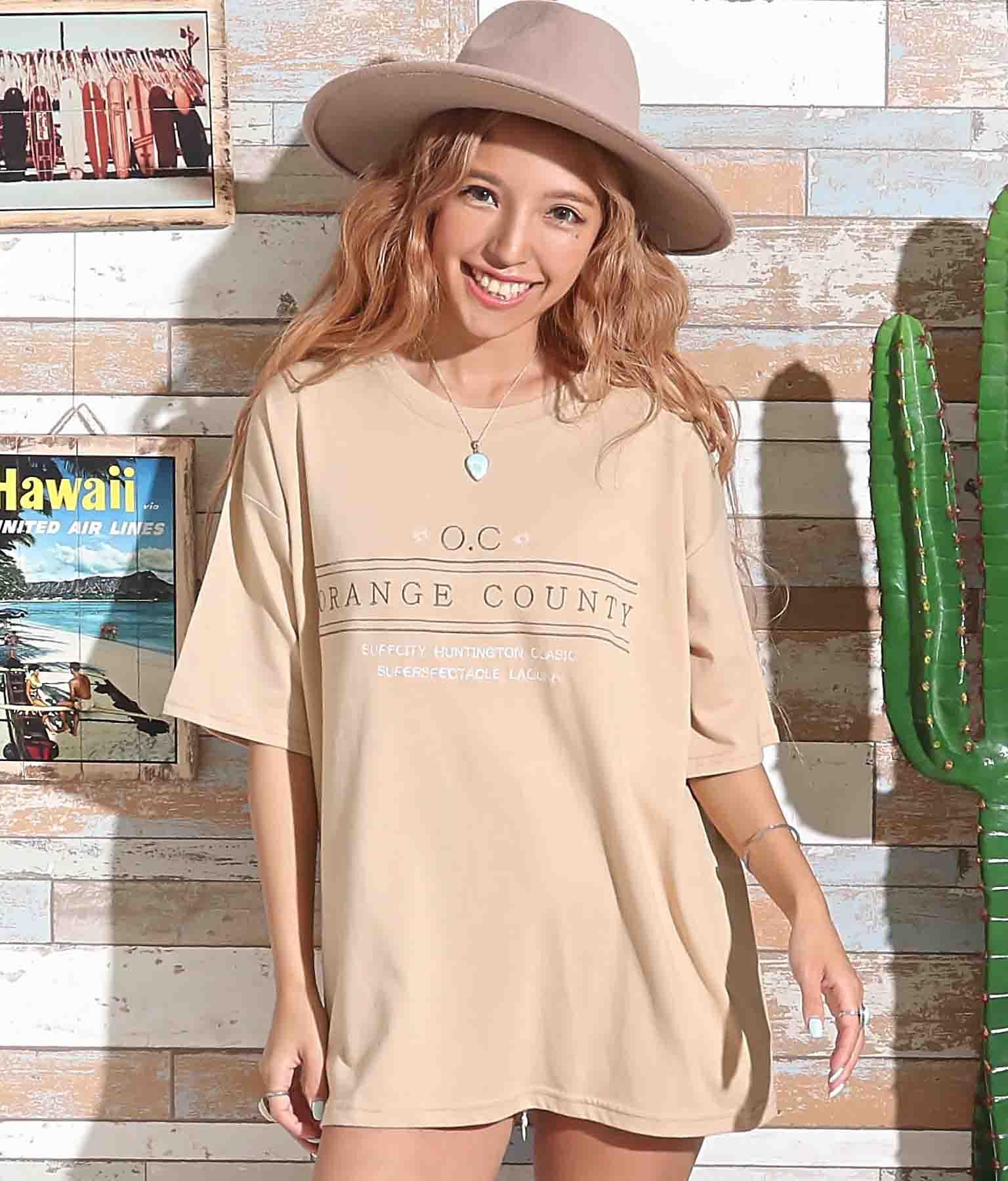 刺繍オーバーサイズTシャツ