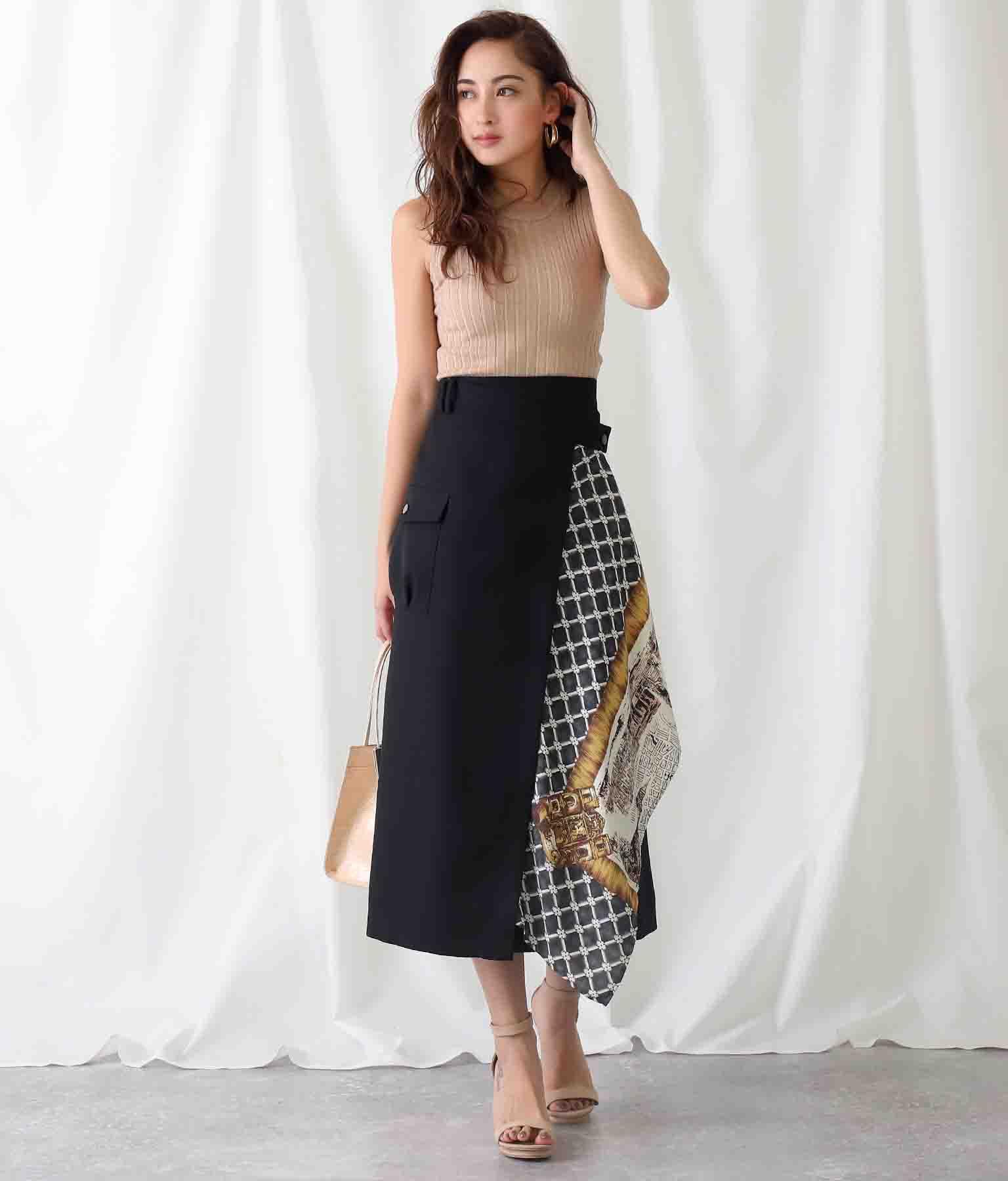 MAPスカーフドレープスカート(ボトムス・パンツ /スカート) | Alluge