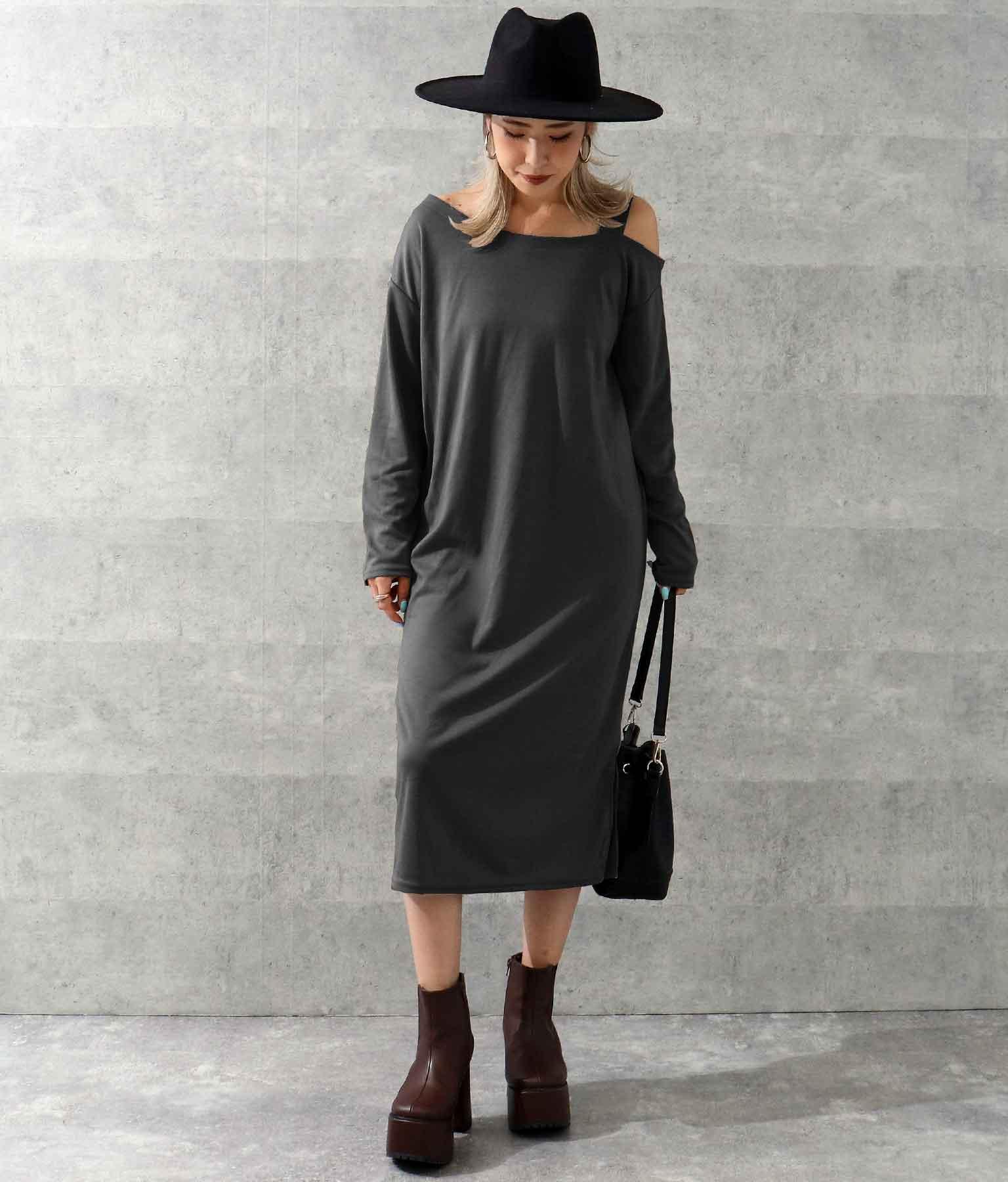 ワンショルダーカットワンピース(ワンピース・ドレス/ロングワンピ) | ANAP
