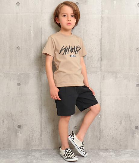 手書きメッセージロゴプリントTシャツ(トップス/Tシャツ)   ANAP KIDS