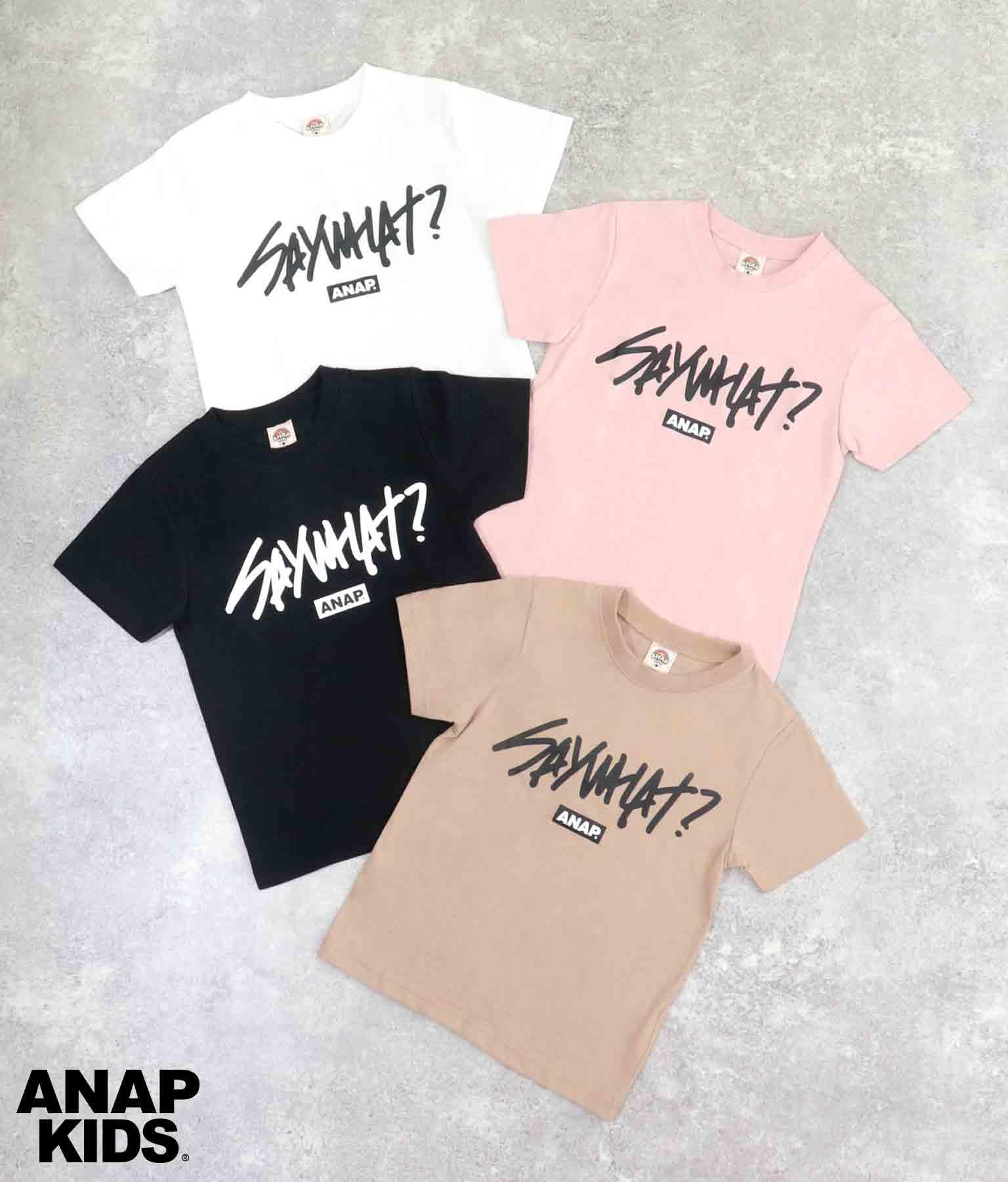 手書きメッセージロゴプリントTシャツ