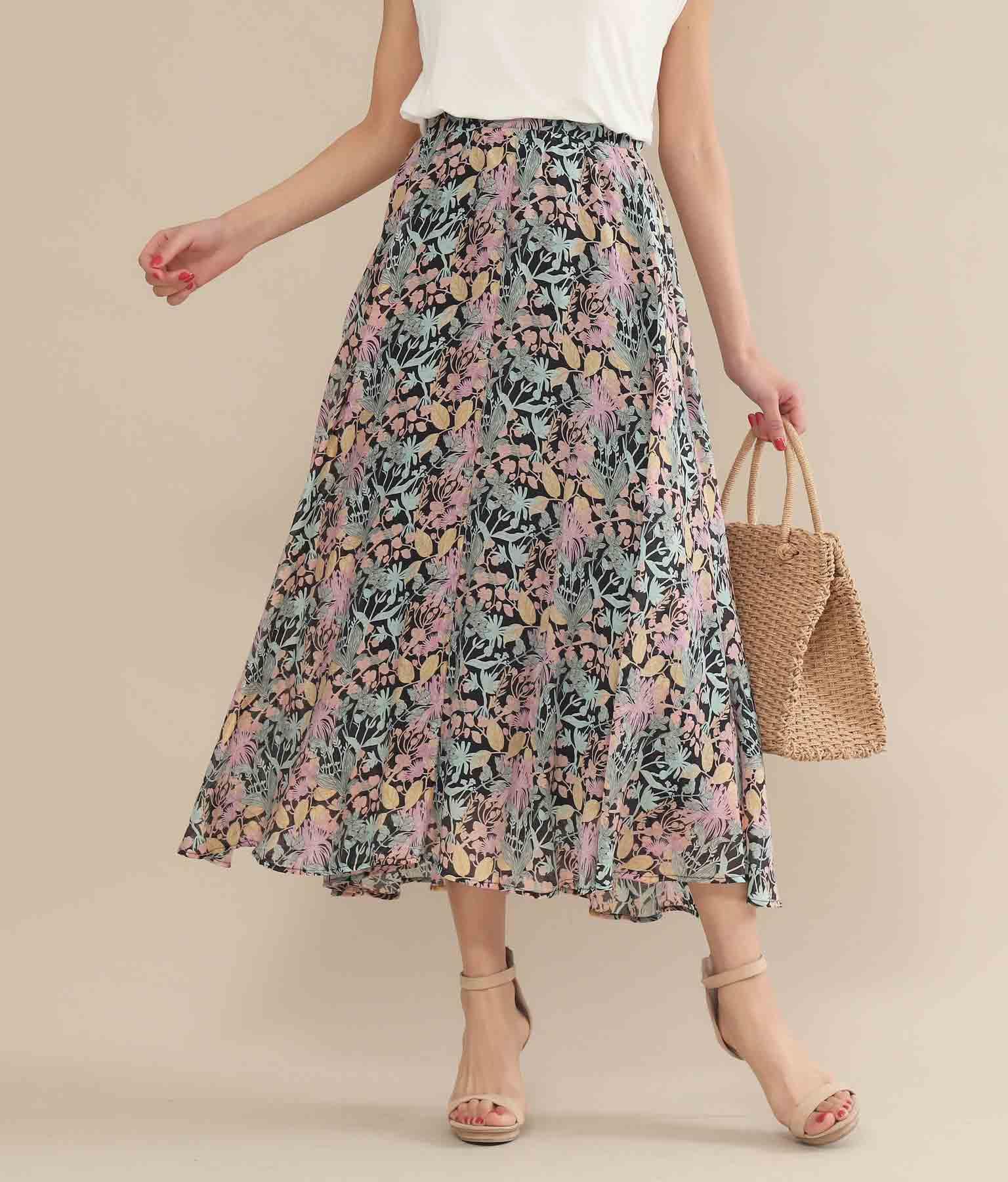 スプリングフラワーフレアースカート(ボトムス・パンツ /スカート) | Alluge