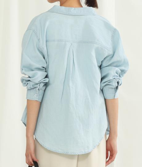 リネンデニムウォッシュシャツ(トップス/デニムシャツ・シャツ・ブラウス) | Alluge