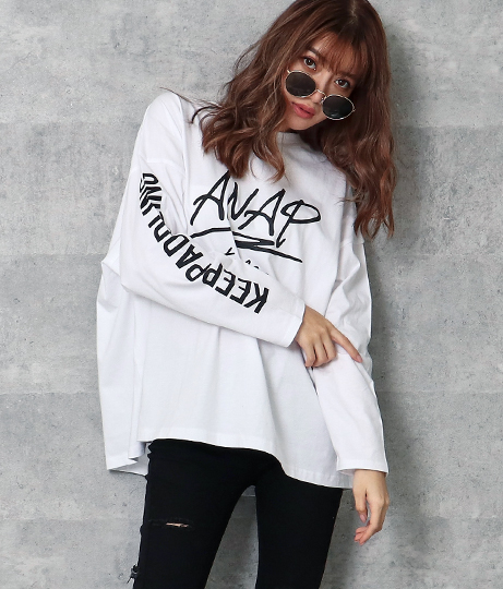 ANAPロゴロングTシャツ