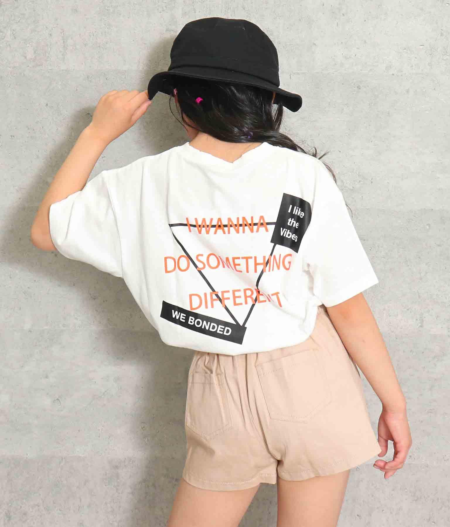 ネックダメージ両面プリントTシャツ(トップス/Tシャツ) | ANAP KIDS