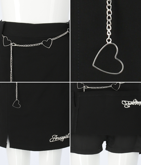 ハートベルト付きスリットスカート(ボトムス・パンツ /スカート) | ANAP GiRL