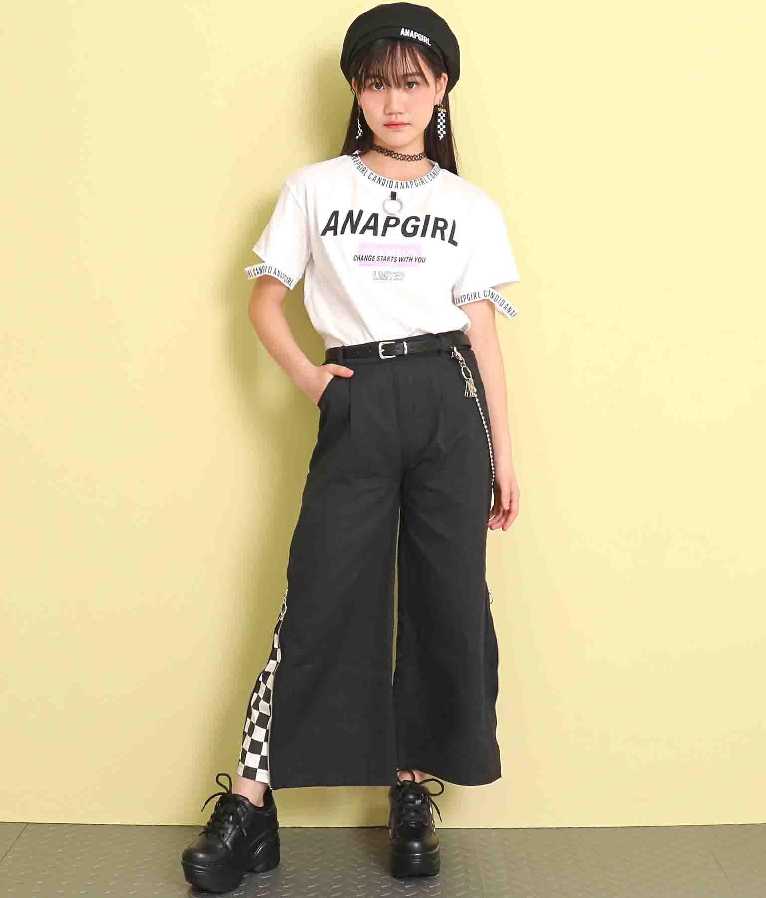 リング付袖アキトップス(トップス/Tシャツ) | ANAP GiRL