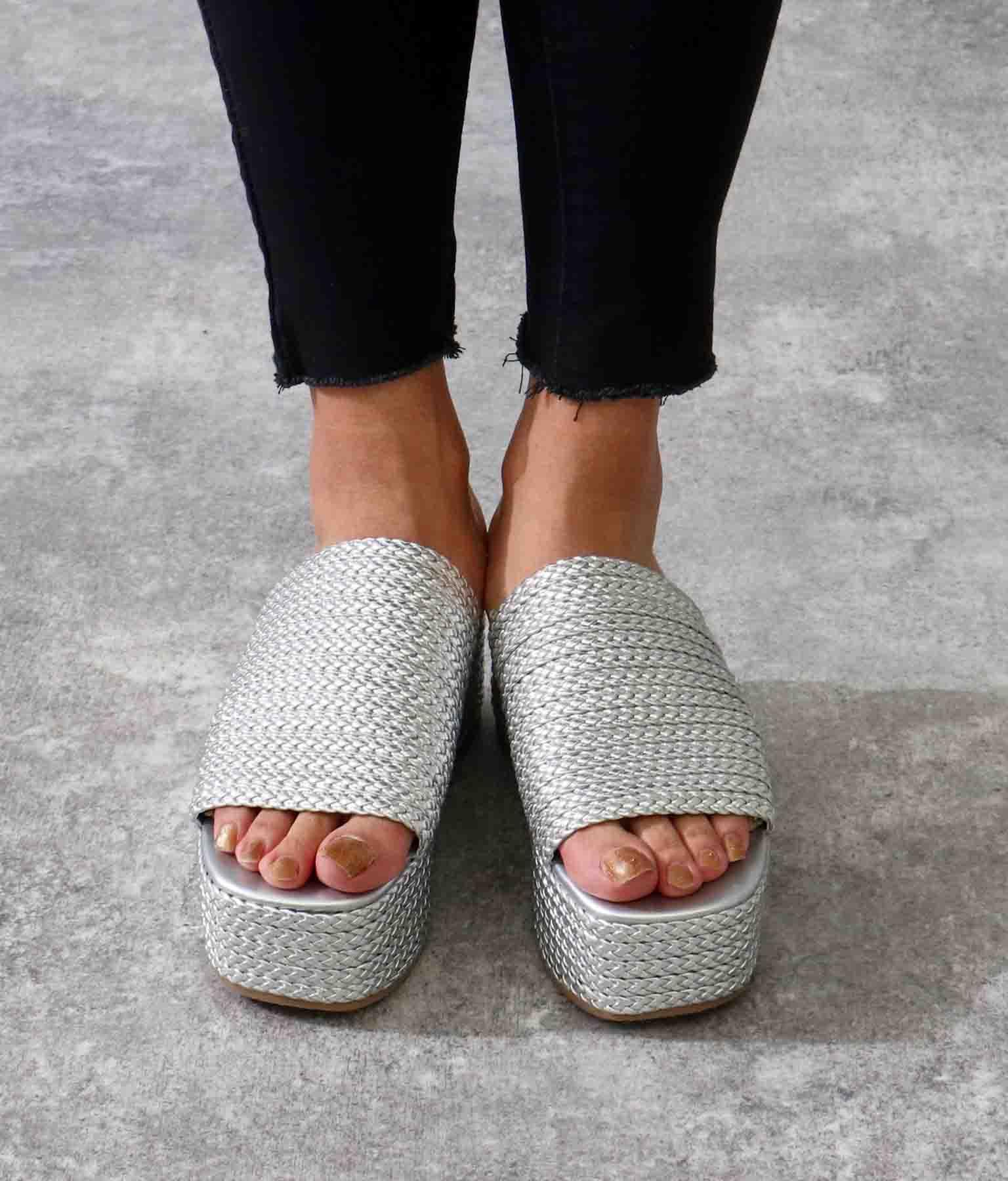 ジュートプラットフォームサンダル(シューズ・靴/サンダル) | ANAP