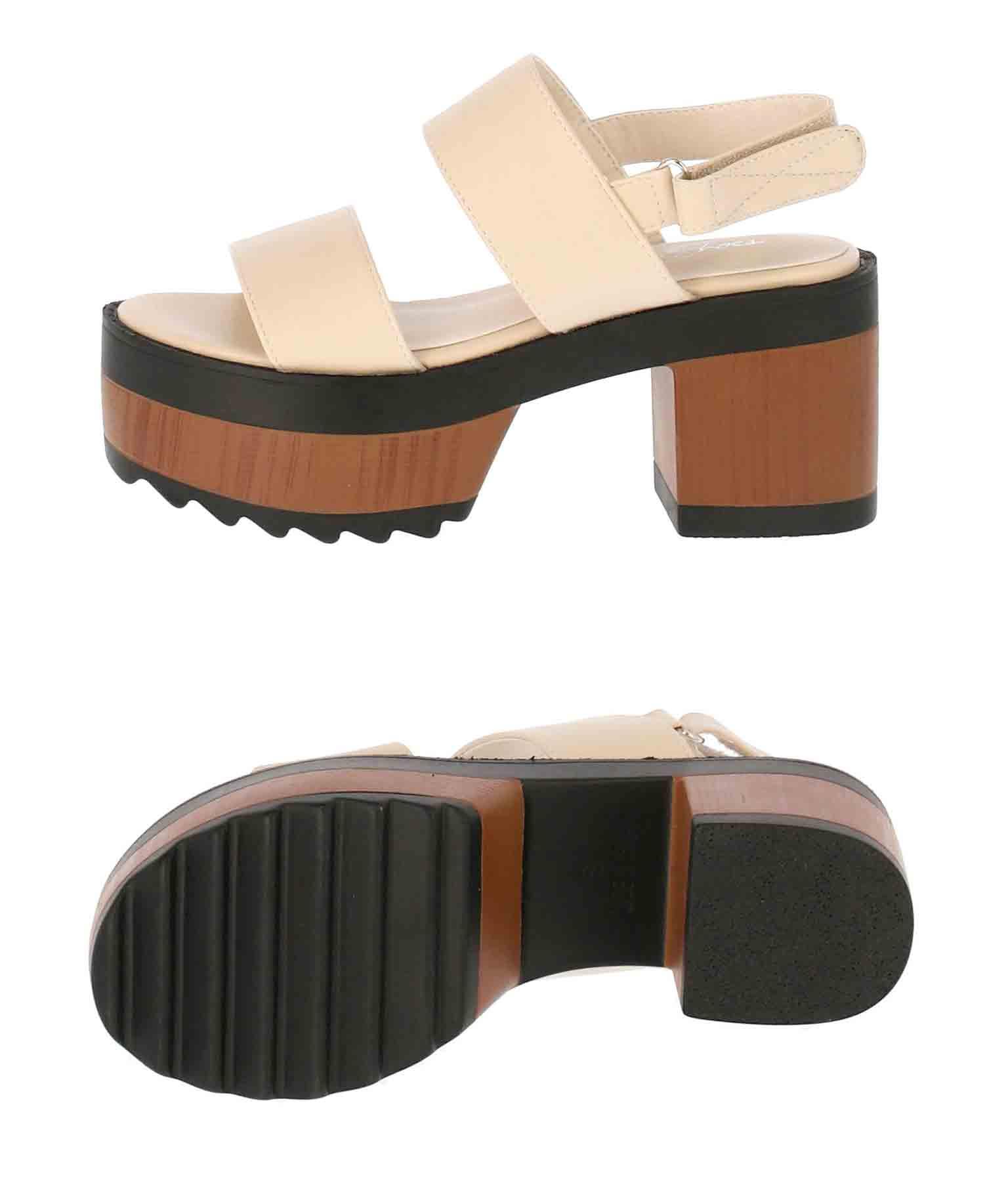 ダブルベルトプラットフォームサンダル(シューズ・靴/サンダル)   ANAP