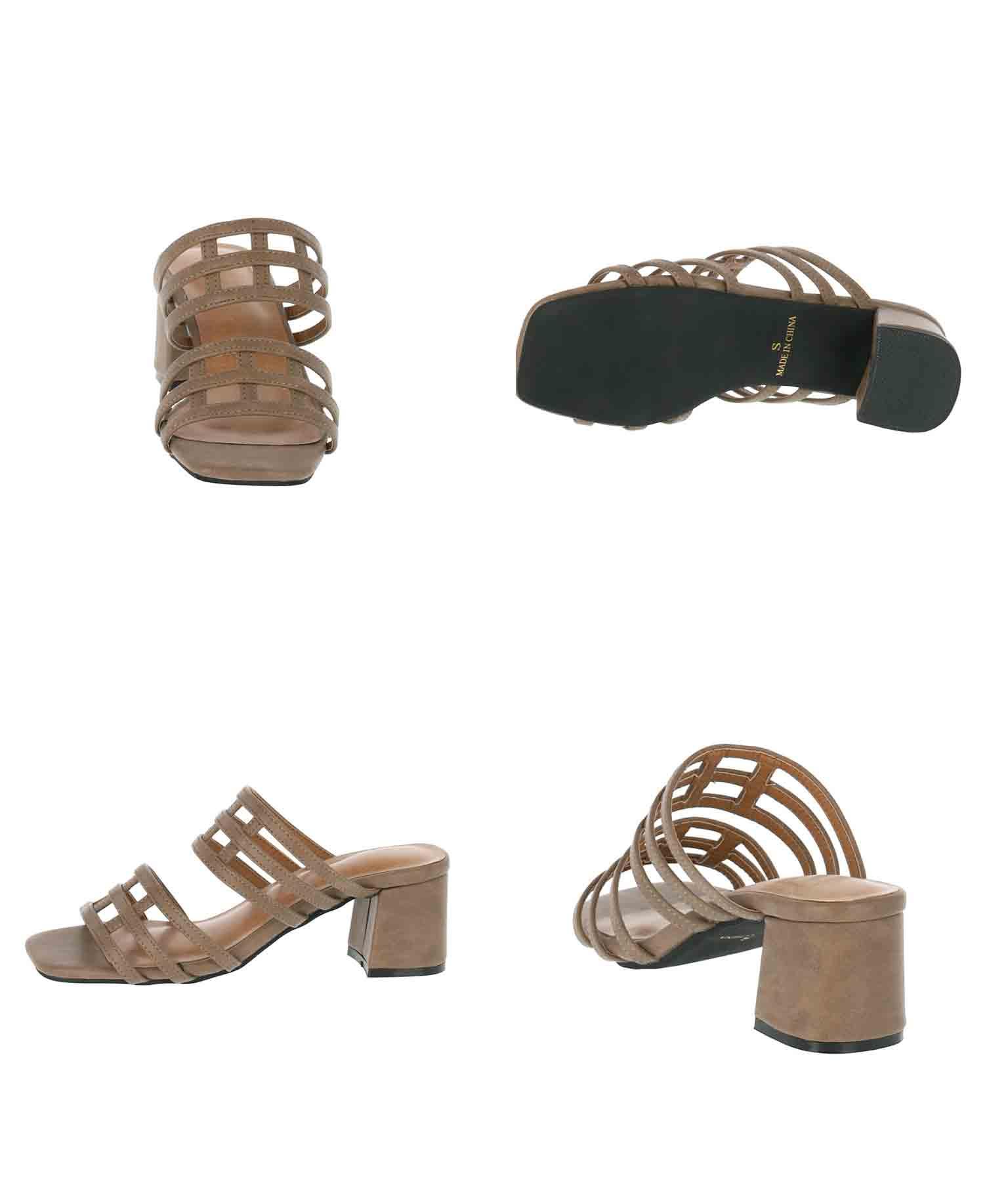 デザイン編みサンダル(シューズ・靴/サンダル)   CHILLE
