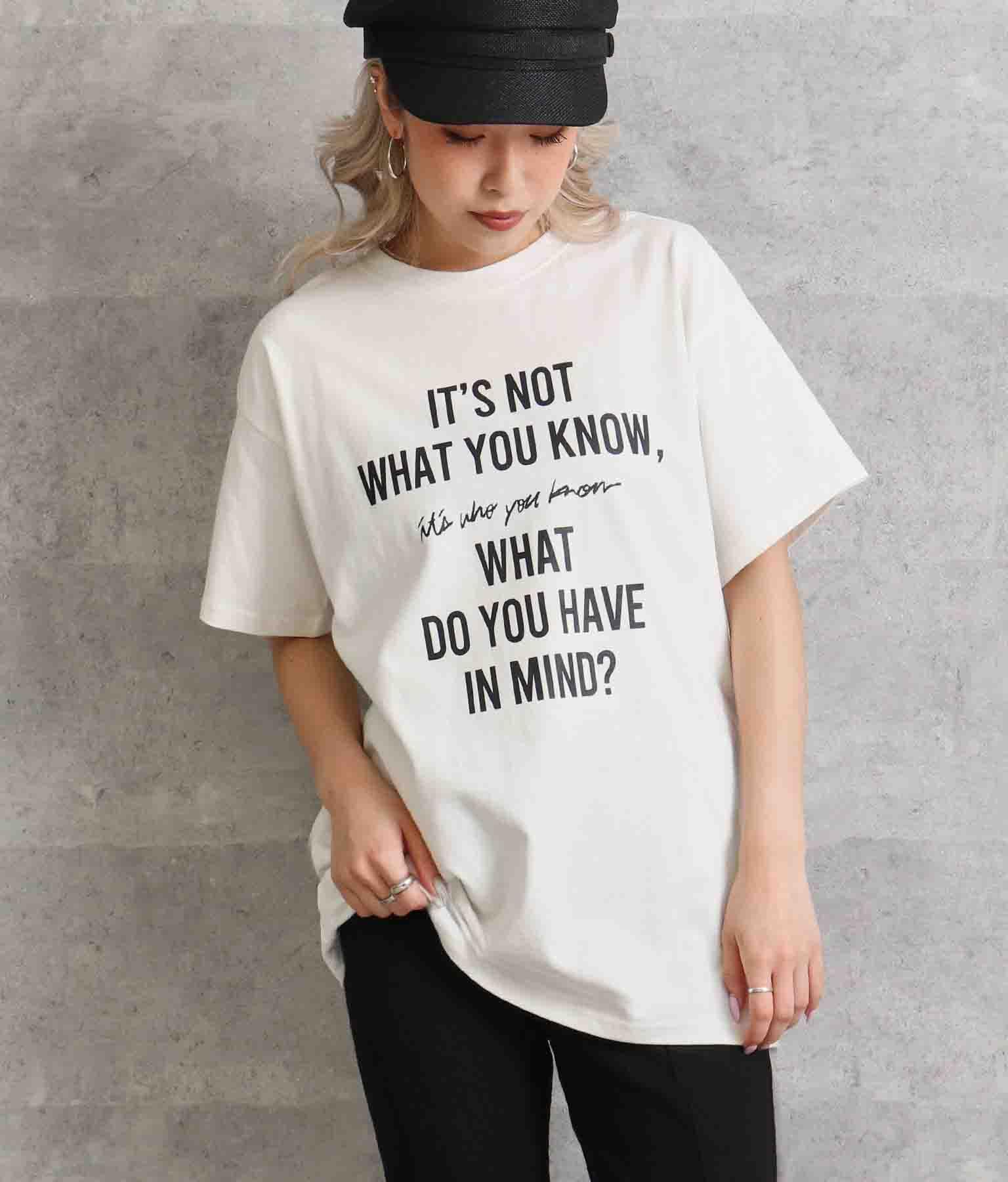 フロントプリントUSED風Tシャツ