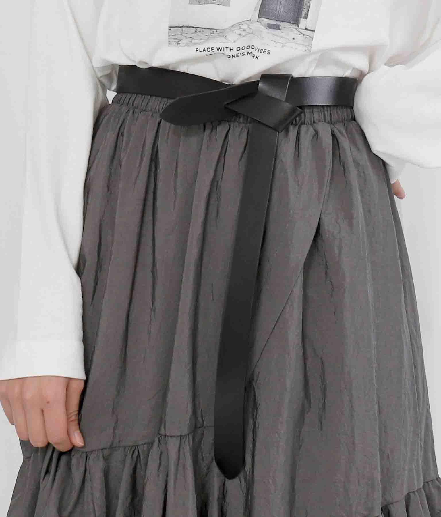 本革ノットデザインフリーサイズベルト(ファッション雑貨/ベルト)   Settimissimo