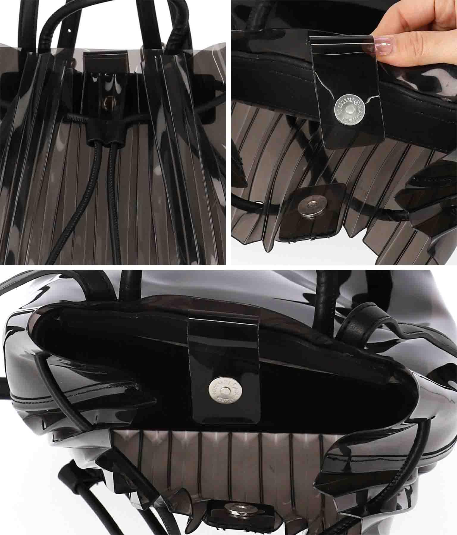 フロントプリーツデザインクリアリュック(バッグ・鞄・小物/クリアバッグ・トートバッグ) | Settimissimo