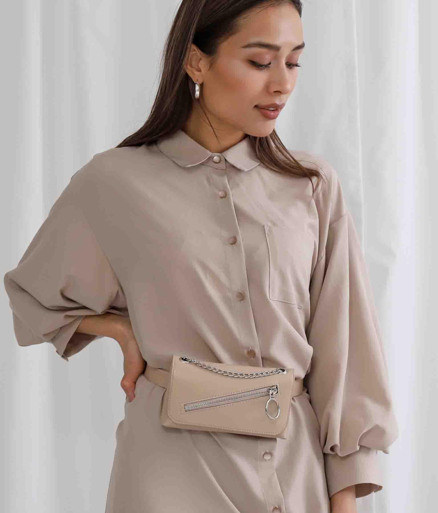 フロントジップデザイン2WAYスモールバッグ(バッグ・鞄・小物/ショルダーバッグ・ショルダーポシェット) | Settimissimo