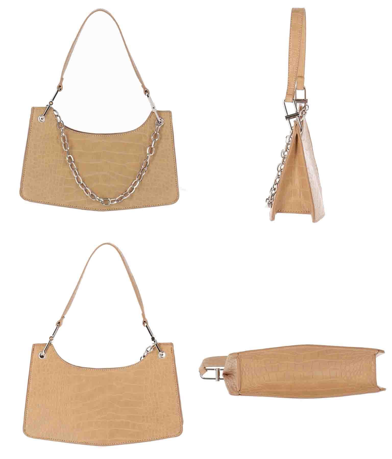 クロコダイルチェーンデザインバッグ(バッグ・鞄・小物/ハンドバッグ) | Alluge