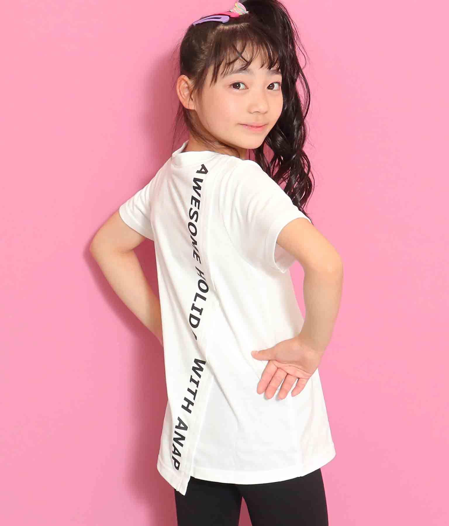バック斜め切替チュニック(トップス/Tシャツ・チュニック) | ANAP KIDS