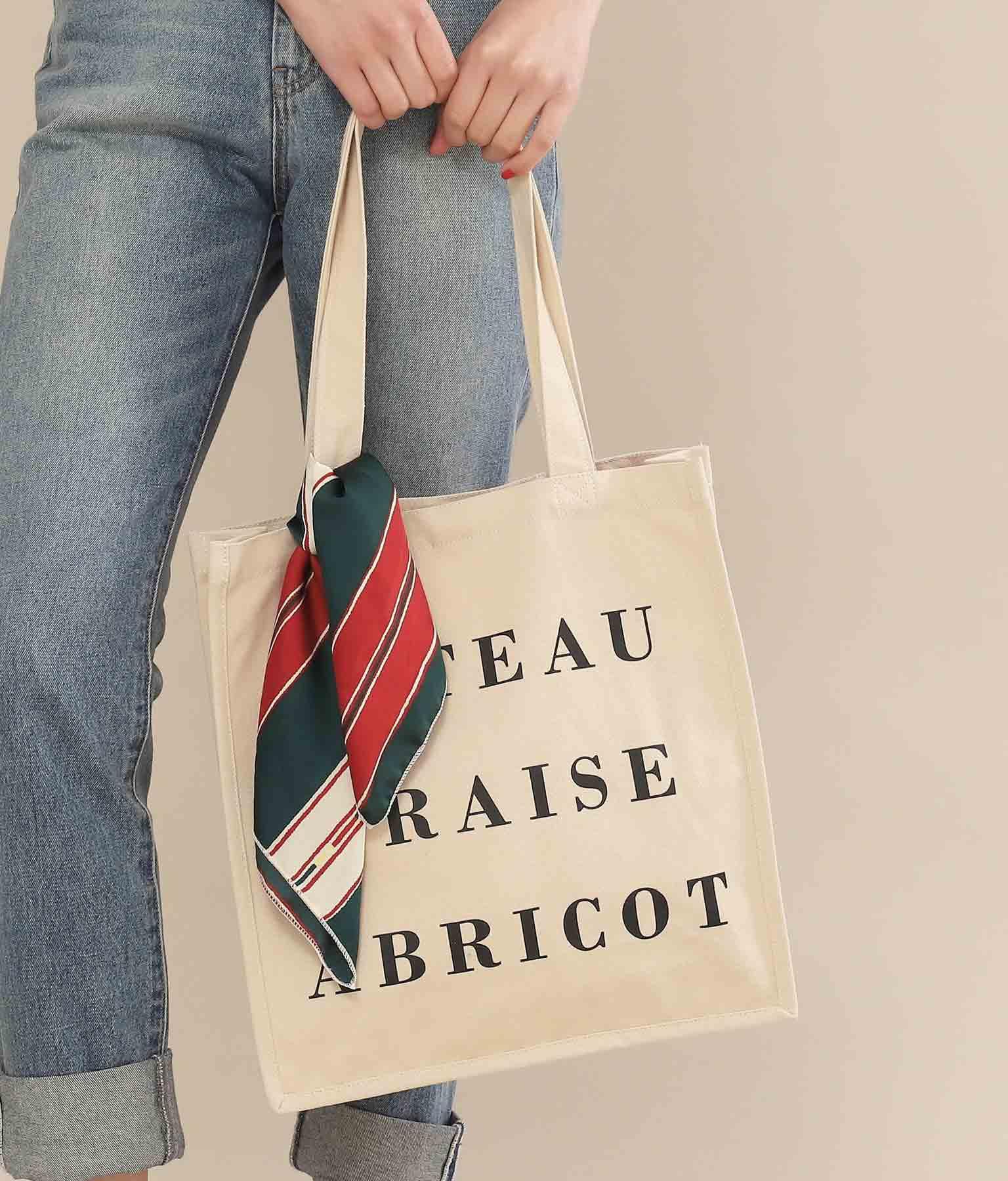 Alluge スカーフ付キャンバストートバッグ