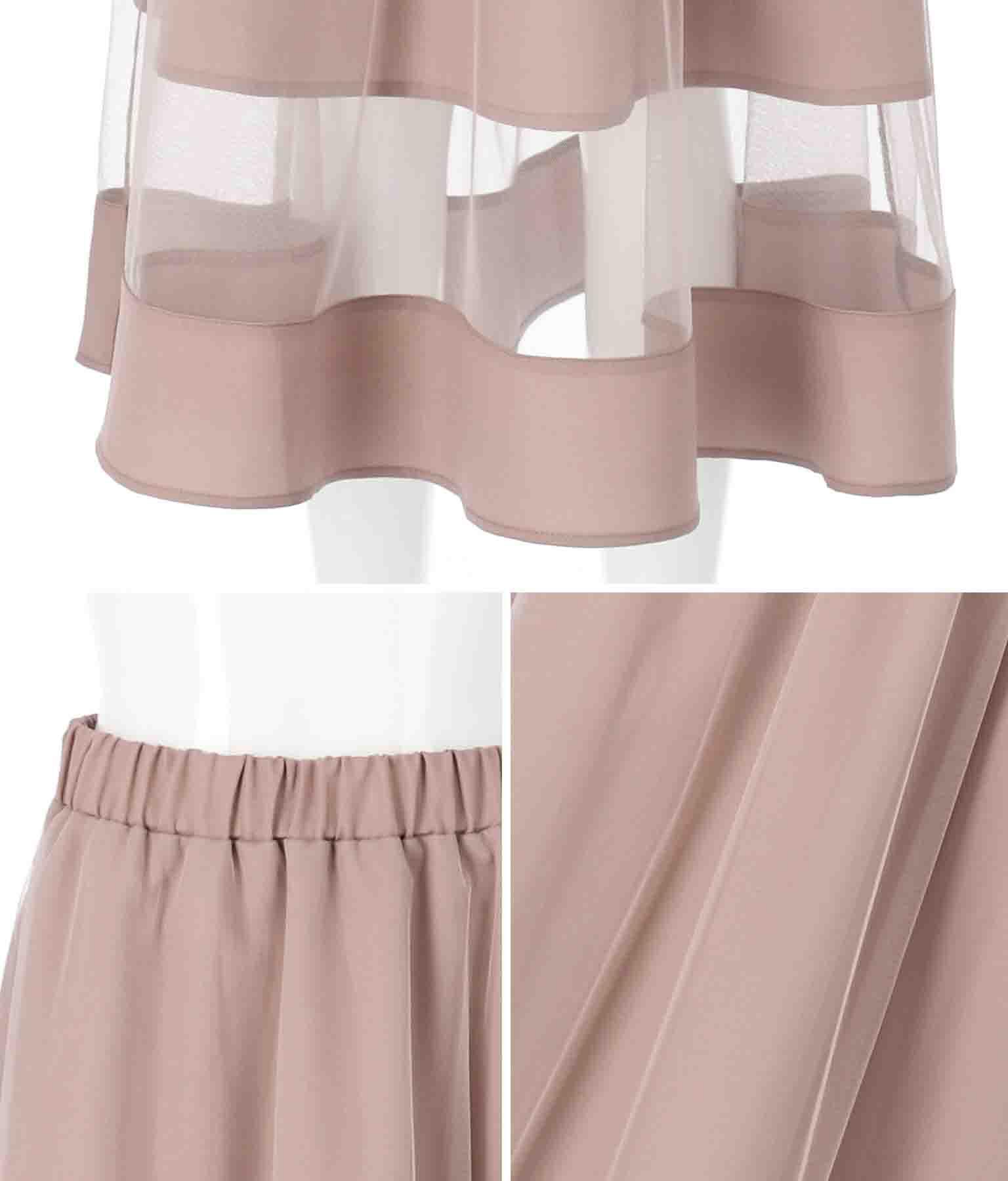 ジョーゼット×チュールスカート(ボトムス・パンツ /スカート) | Alluge