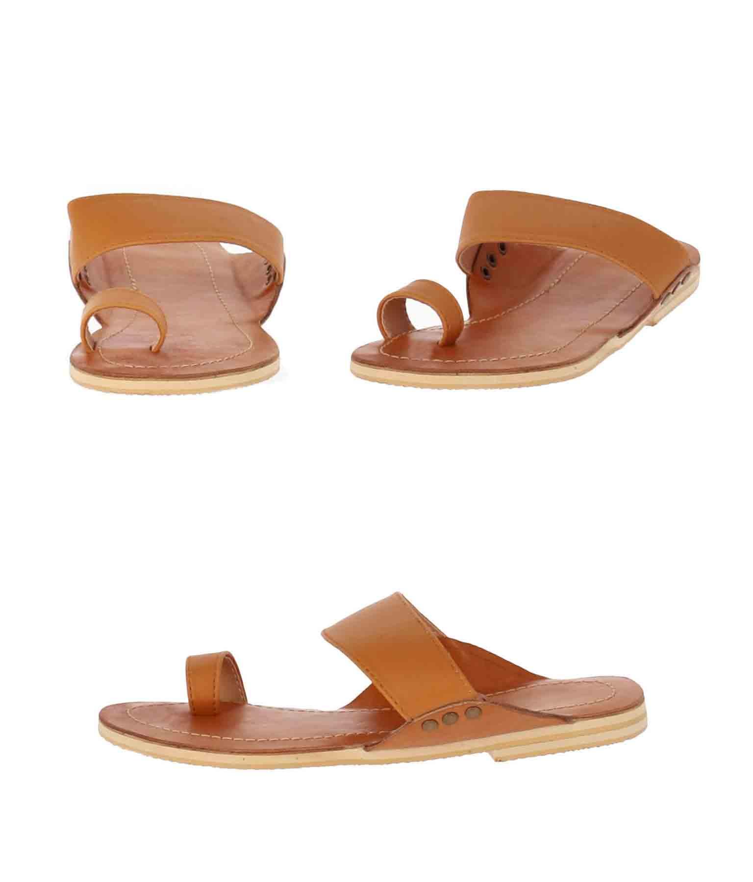 牛革デザインサンダル(シューズ・靴/サンダル) | anap mimpi