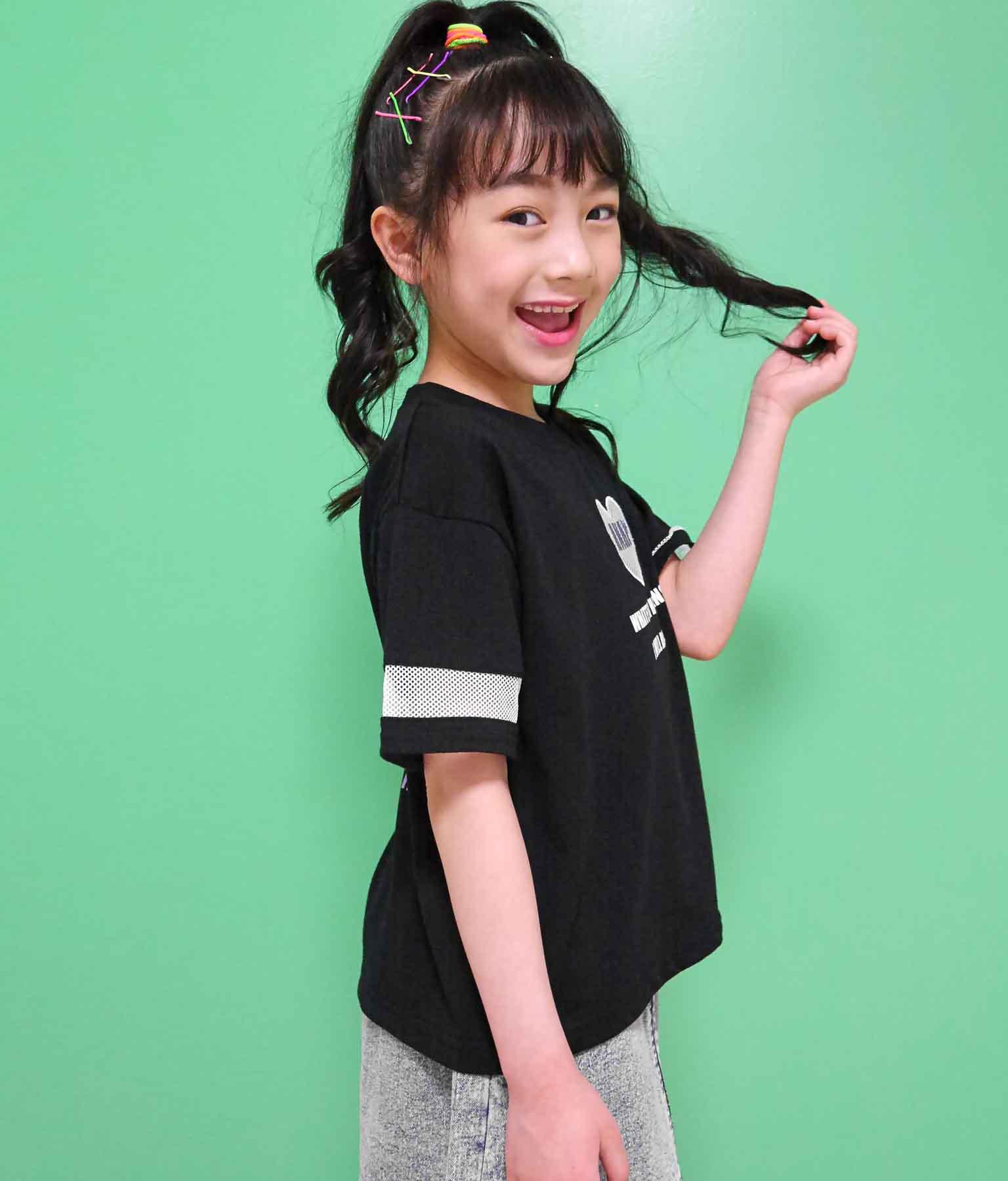 ハートメッシュTシャツ(トップス/Tシャツ)   ANAP KIDS