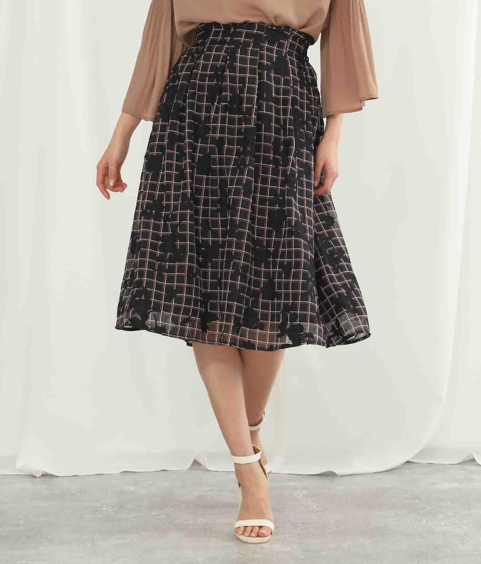 ジャガードチェックプリントスカート(ボトムス・パンツ /スカート)   Alluge