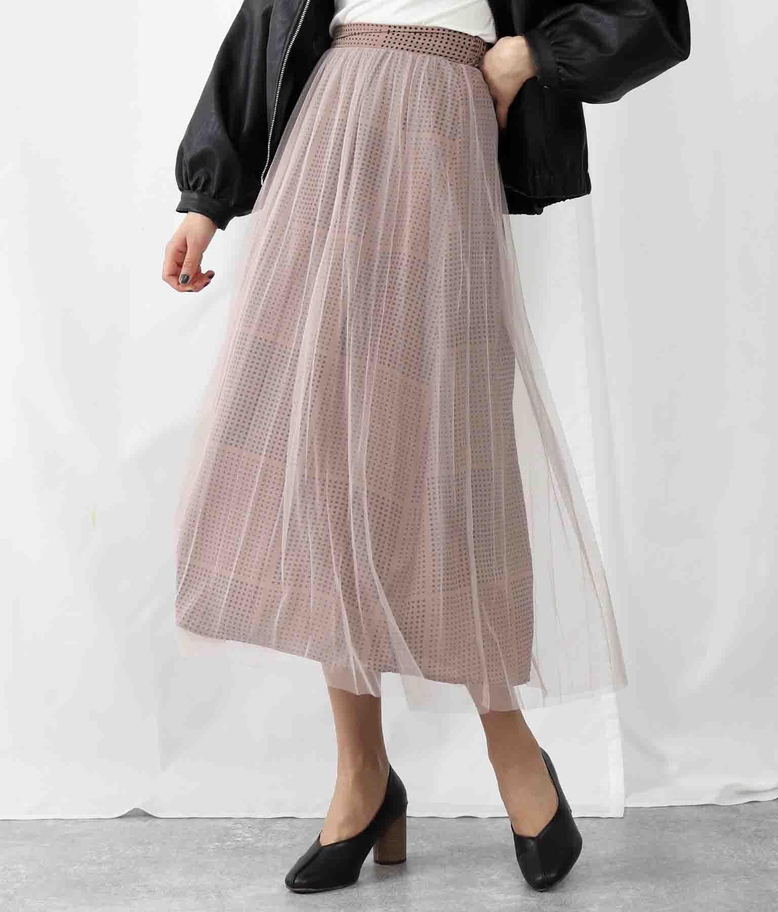 ドットプリントチュールスカート(ボトムス・パンツ /スカート) | Alluge