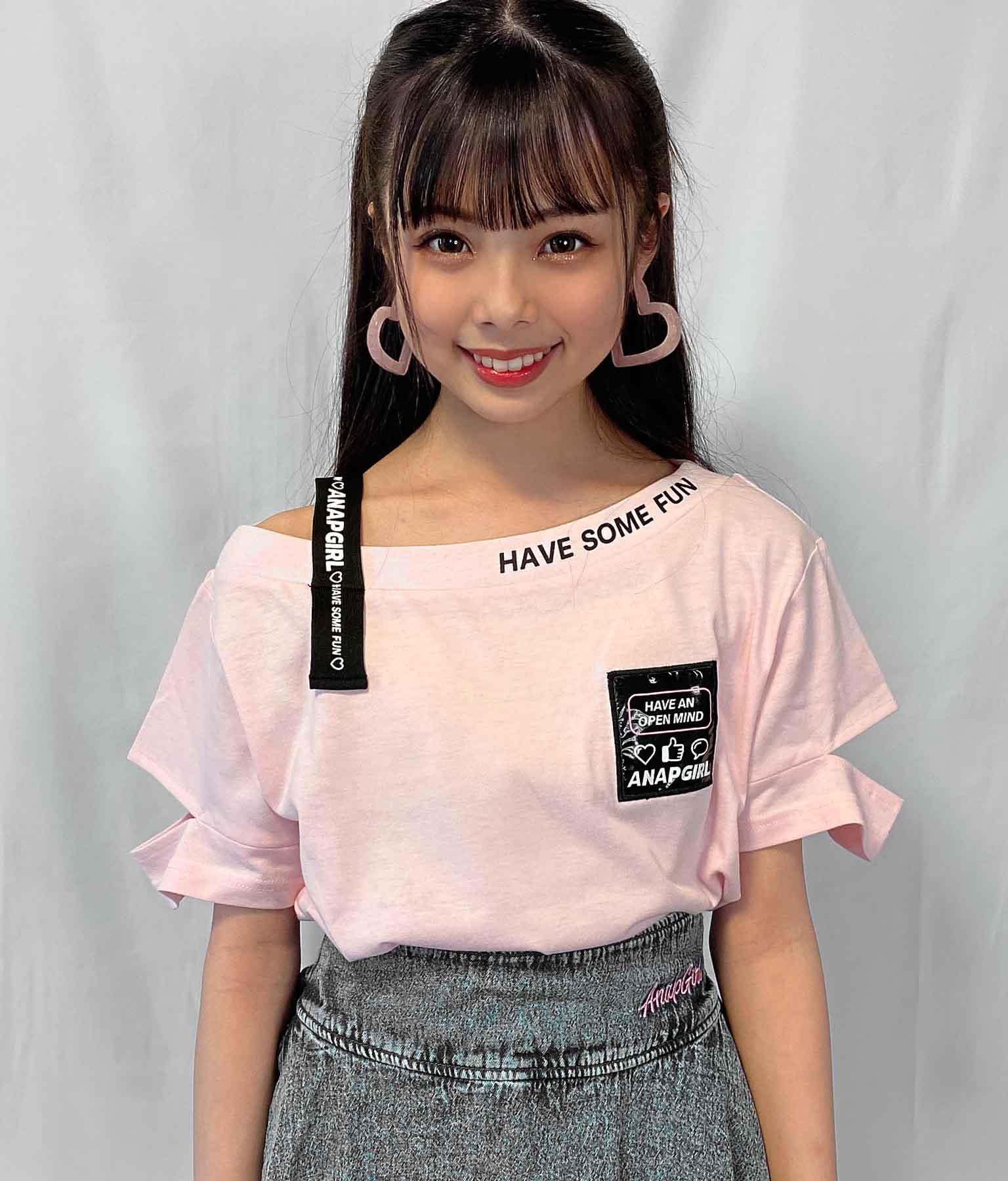 ワンショルダーテープ付トップス(トップス/Tシャツ) | ANAP GiRL